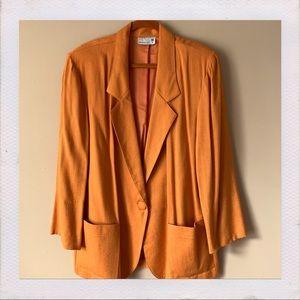Vintage Sherbet Orange Blazer